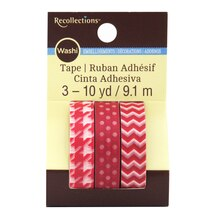 Red Print Washi Tape by Recollections